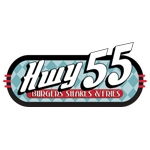 HWY 55 Burgers, Shakes & Fries-logo
