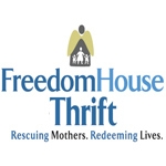 Freedom House Thrift Store, Rescuing Mothers, Redeeming Lives-logo