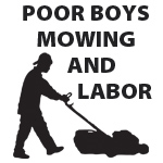 Poor Boy's Mowing and Labor Logo