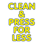 $2 Plus Tax – $2 + tax  Any Dry Cleanable Garment Cleaned & Pressed-logo