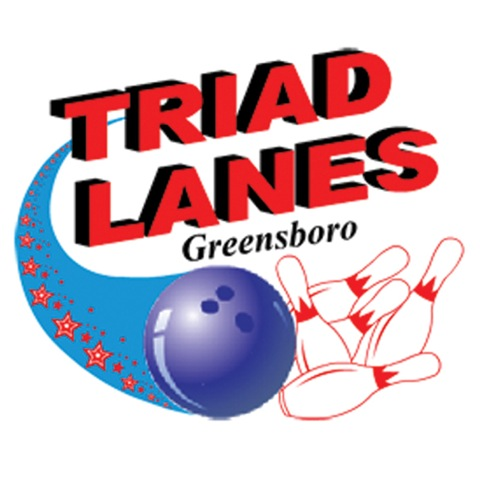 Triad Lanes, Greensboro's Elite Bowling Center Logo